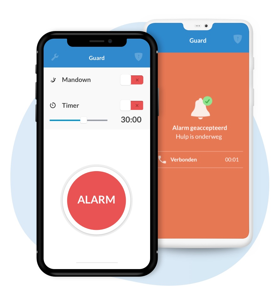 Guard Mandown op iPhone en Android