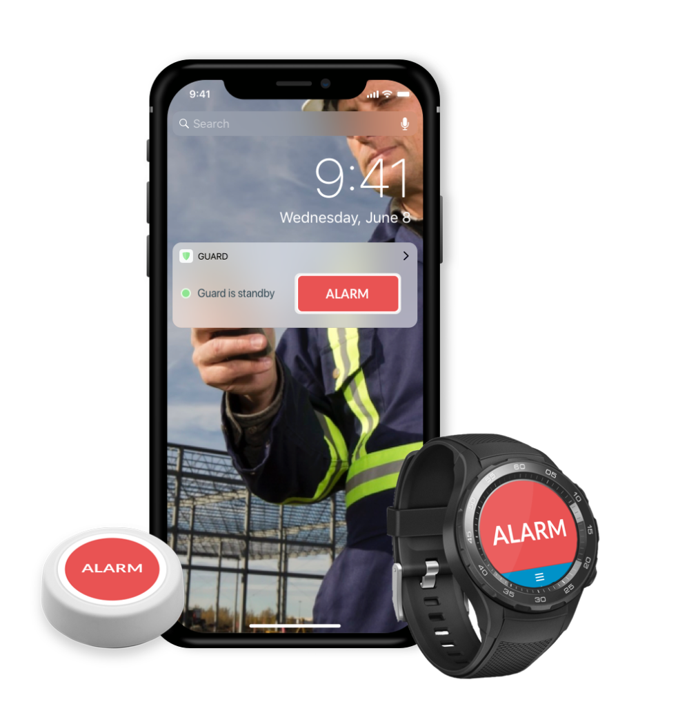 Guard Direct Alarm Slaan met Smartwatch drukknop en widgets